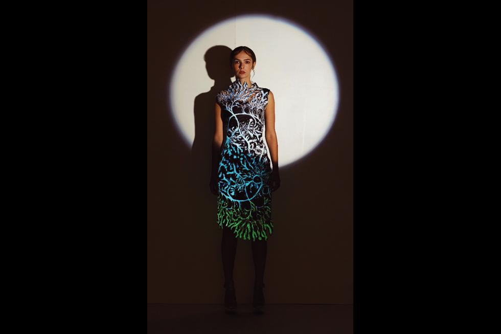 Crystal pattern dress